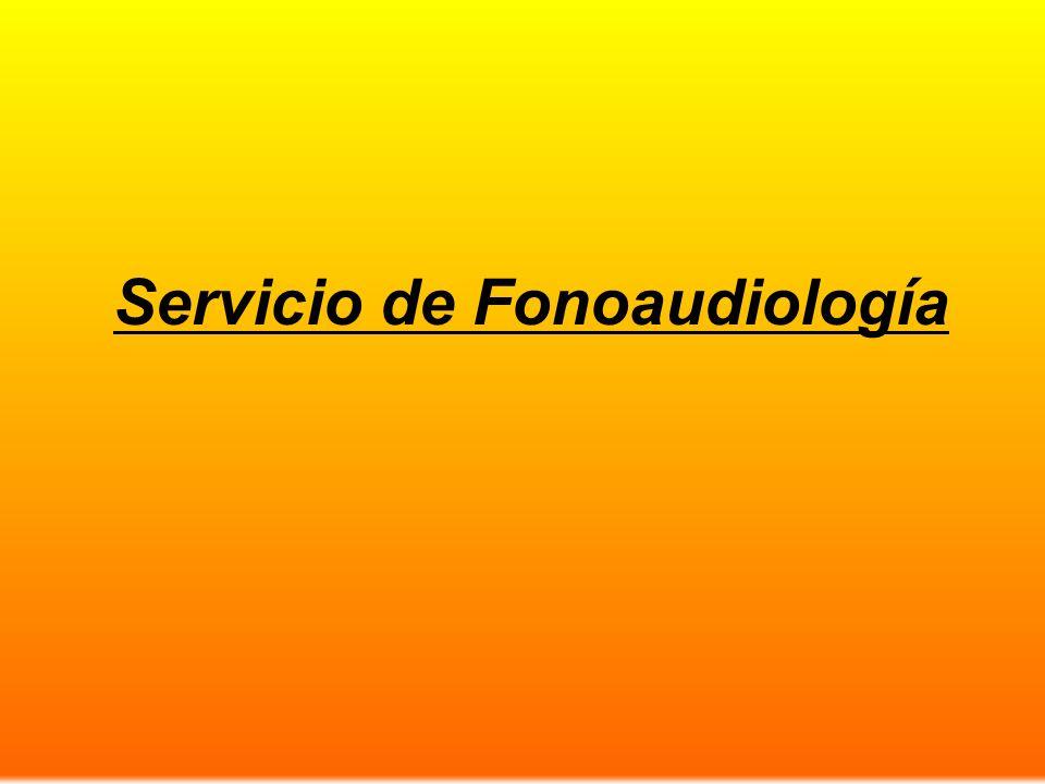 Servicio de Fonoaudiología