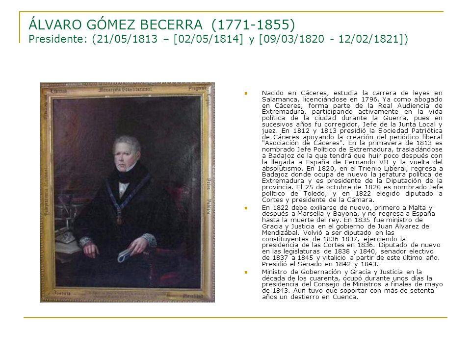 Nacido en Cáceres, estudia la carrera de leyes en Salamanca, licenciándose en 1796. Ya como abogado en Cáceres, forma parte de la Real Audiencia de Ex