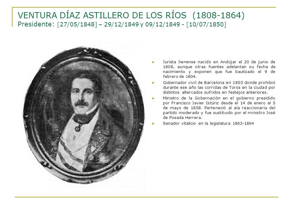 Jurista Jienense nacido en Andújar el 20 de junio de 1808, aunque otras fuentes adelantan su fecha de nacimiento y exponen que fue bautizado el 9 de f