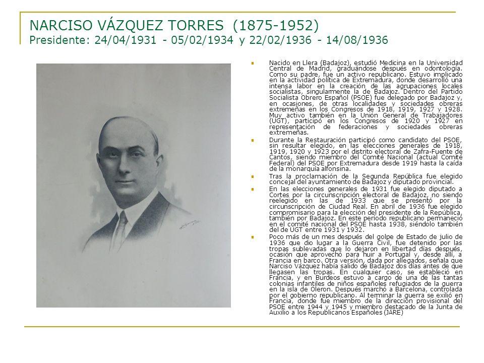 Nacido en Llera (Badajoz), estudió Medicina en la Universidad Central de Madrid, graduándose después en odontología. Como su padre, fue un activo repu