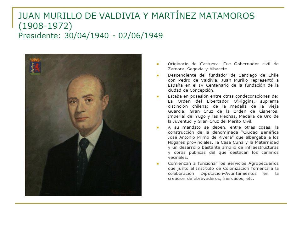 Originario de Castuera. Fue Gobernador civil de Zamora, Segovia y Albacete. Descendiente del fundador de Santiago de Chile don Pedro de Valdivia, Juan