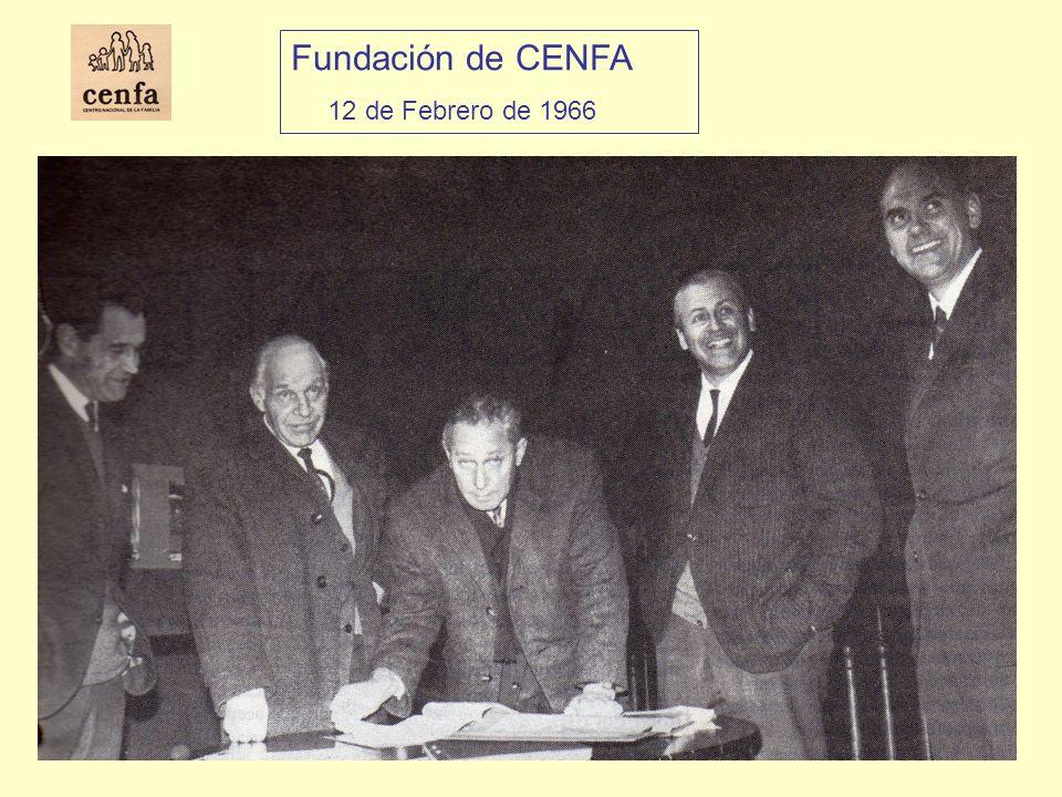 Inauguración del Servicio de Consejeros Familiares 29 Agosto 1969 Rodolfo Valdés Phillips, Presidente de Cenfa María Echeñique de Valdés, Directora del Servicio de Consejeros.