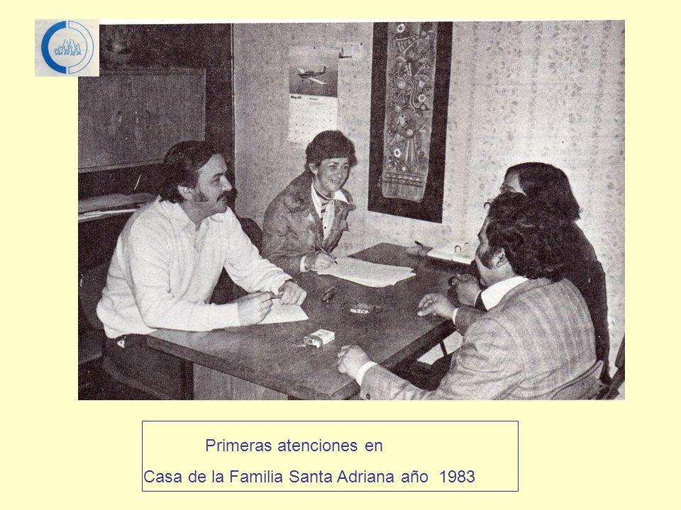 Primeras atenciones en Casa de la Familia Santa Adriana año 1983
