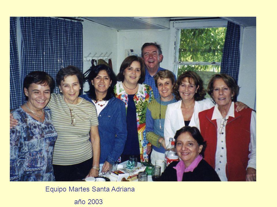 Equipo Martes Santa Adriana año 2003