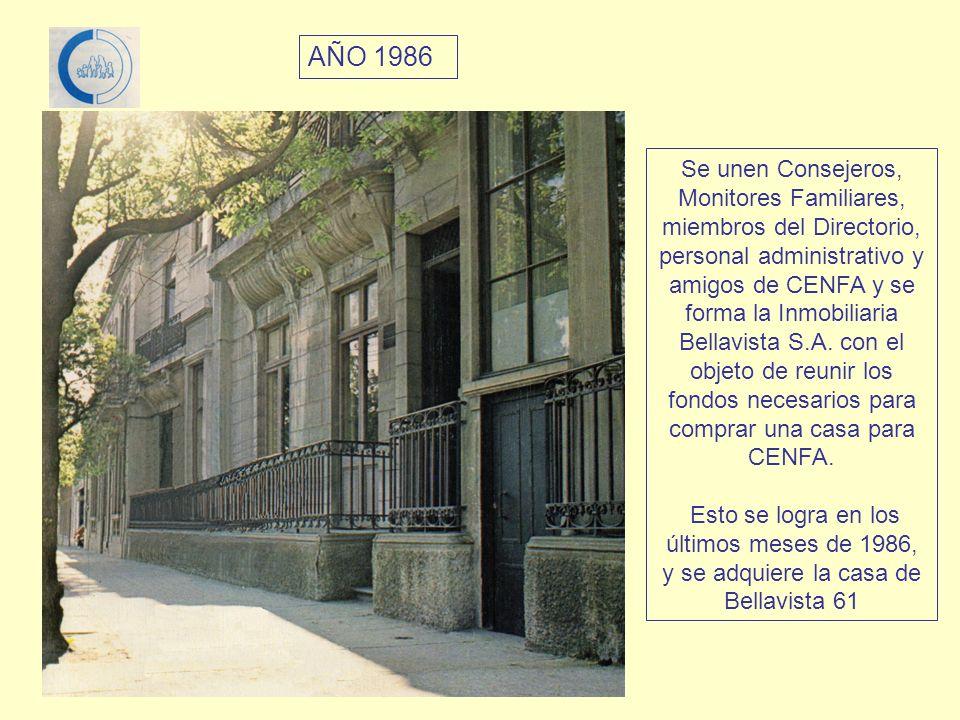 Se unen Consejeros, Monitores Familiares, miembros del Directorio, personal administrativo y amigos de CENFA y se forma la Inmobiliaria Bellavista S.A