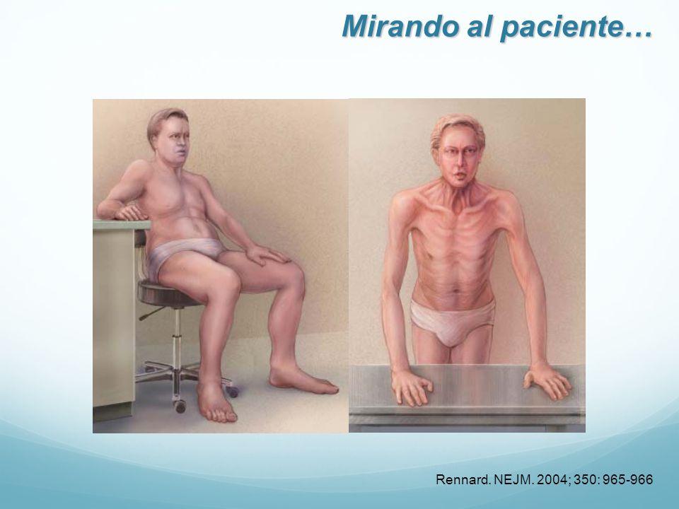 Rennard. NEJM. 2004; 350: 965-966 Mirando al paciente…