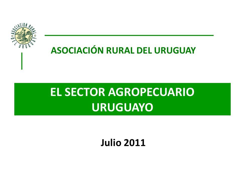Julio 2011 ASOCIACIÓN RURAL DEL URUGUAY EL SECTOR AGROPECUARIO URUGUAYO