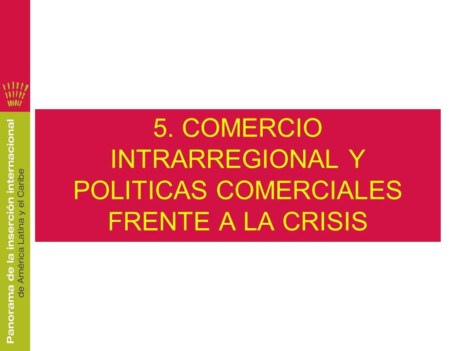 5. COMERCIO INTRARREGIONAL Y POLITICAS COMERCIALES FRENTE A LA CRISIS