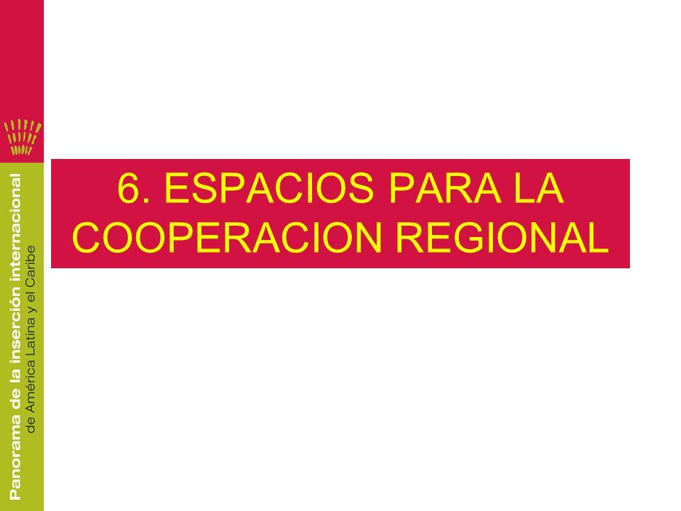 6. ESPACIOS PARA LA COOPERACION REGIONAL