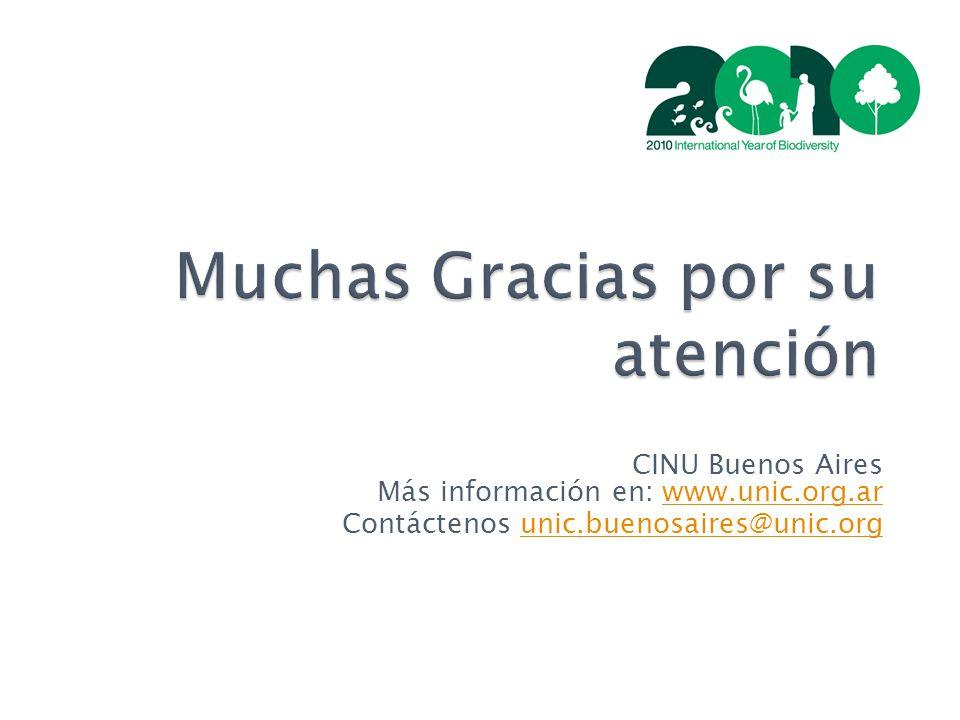 Muchas Gracias por su atención CINU Buenos Aires Más información en: www.unic.org.arwww.unic.org.ar Contáctenos unic.buenosaires@unic.orgunic.buenosaires@unic.org