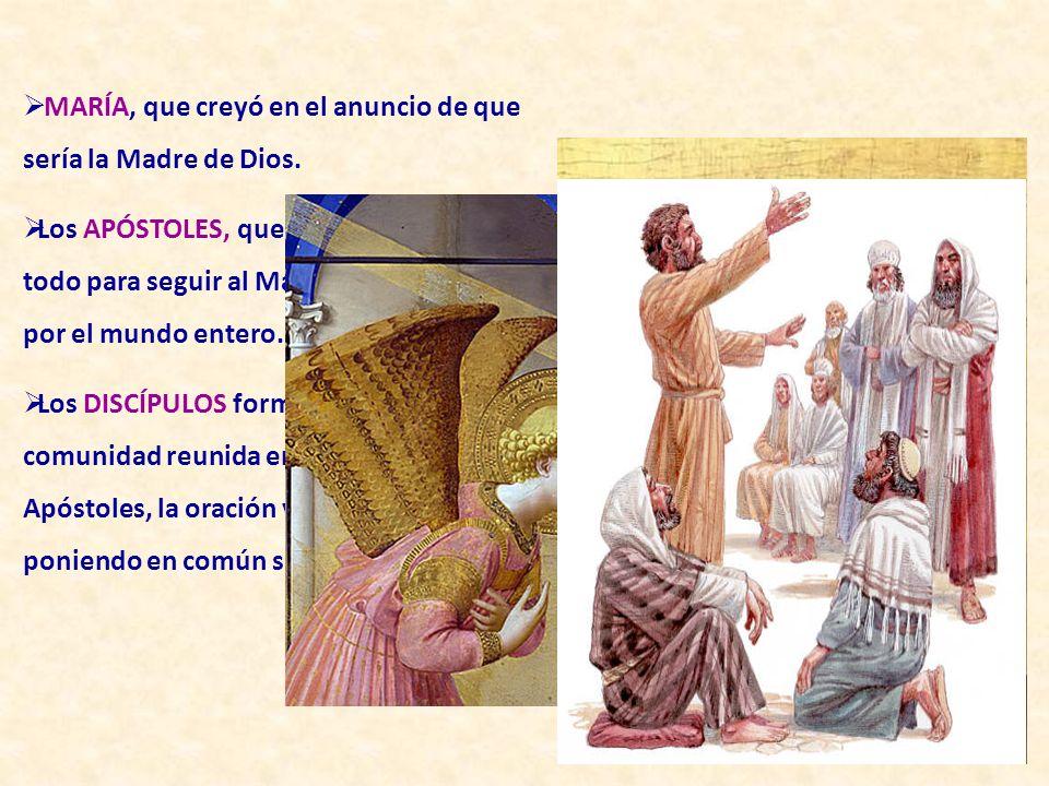 MARÍA, que creyó en el anuncio de que sería la Madre de Dios.