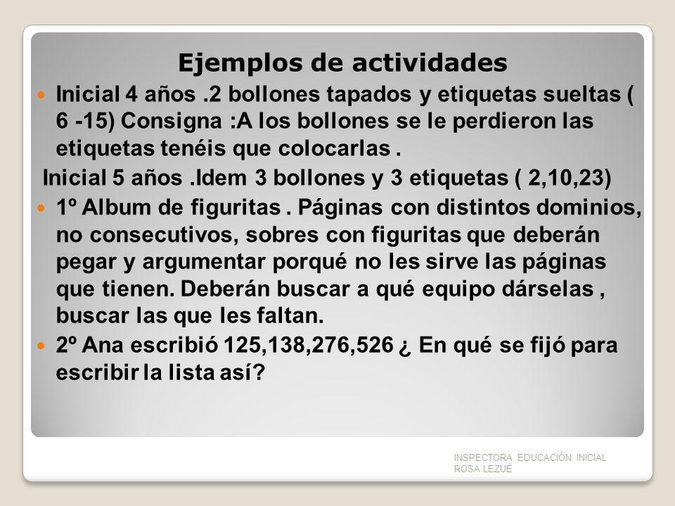 Ejemplos de actividades Inicial 4 años.2 bollones tapados y etiquetas sueltas ( 6 -15) Consigna :A los bollones se le perdieron las etiquetas tenéis q