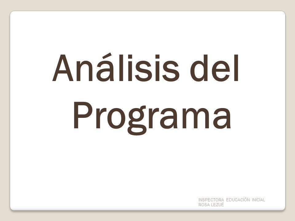 Análisis del Programa INSPECTORA EDUCACIÓN INICIAL ROSA LEZUÉ