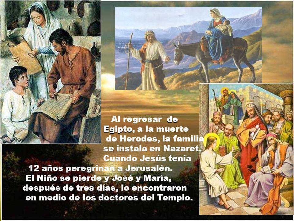 Por el edicto del César se traslada a Belén y allí nace el Salvador en las afueras del pueblo, en soledad y pobreza.