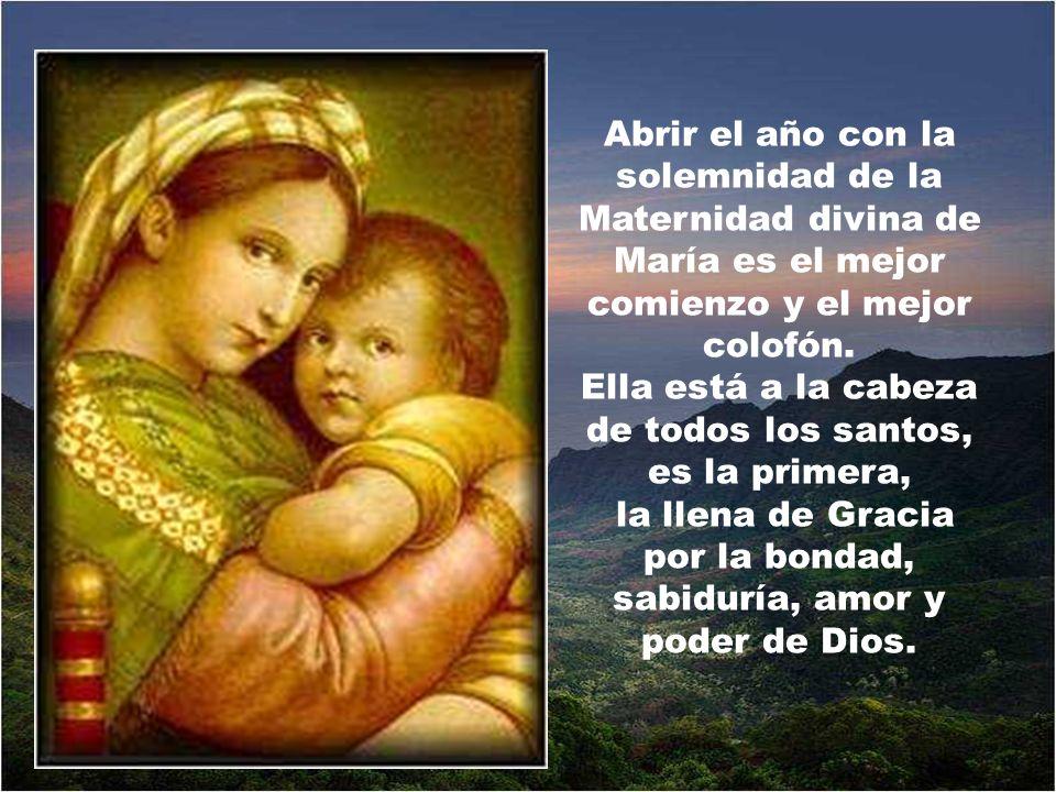 Y qué hermoso repetir lo que decía San Estanislao: La Madre de Dios es también madre mía .