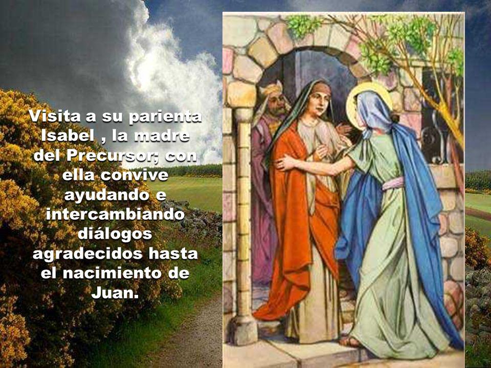 El resumen de su vida entre nosotros es breve y humilde: vive en Nazaret, allá en Galilea, donde concibió, por obra del Espíritu Santo, a Jesús estando ya desposada con José.