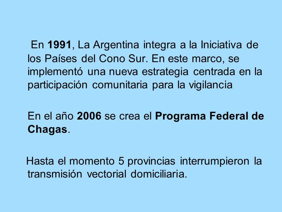 En 1991, La Argentina integra a la Iniciativa de los Países del Cono Sur. En este marco, se implementó una nueva estrategia centrada en la participaci