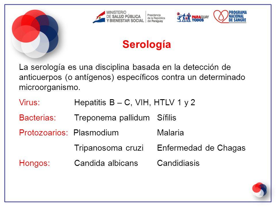 La serología es una disciplina basada en la detección de anticuerpos (o antígenos) específicos contra un determinado microorganismo. Virus: Hepatitis