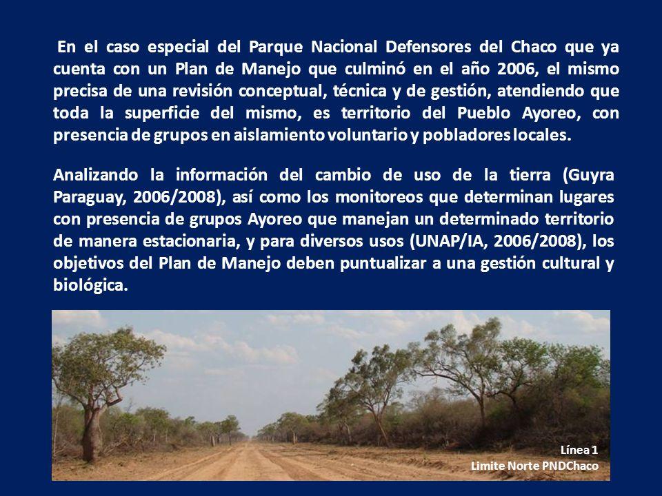 En el caso especial del Parque Nacional Defensores del Chaco que ya cuenta con un Plan de Manejo que culminó en el año 2006, el mismo precisa de una r
