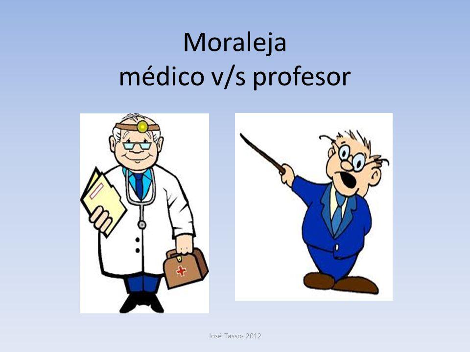 Moraleja médico v/s profesor José Tasso- 2012