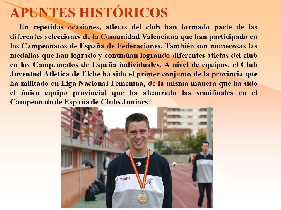 En repetidas ocasiones, atletas del club han formado parte de las diferentes selecciones de la Comunidad Valenciana que han participado en los Campeonatos de España de Federaciones.