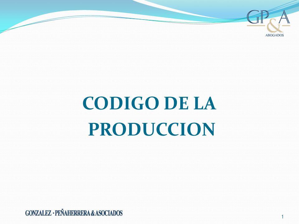 1 CODIGO DE LA PRODUCCION