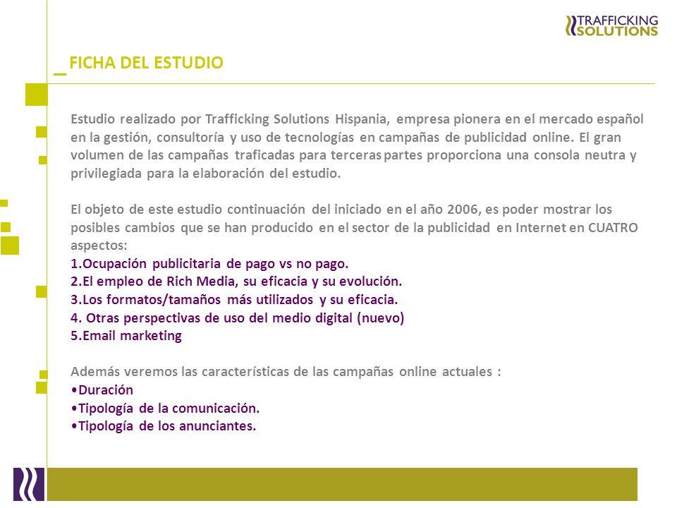 _ Estudio realizado por Trafficking Solutions Hispania, empresa pionera en el mercado español en la gestión, consultoría y uso de tecnologías en campa