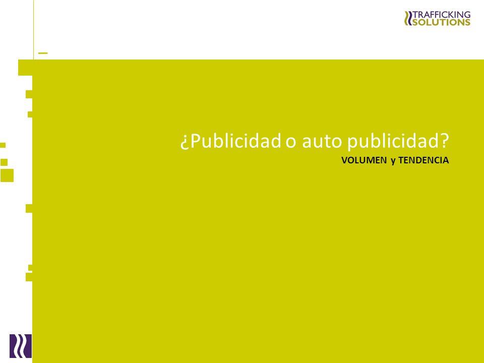 _ ¿Publicidad o auto publicidad? VOLUMEN y TENDENCIA