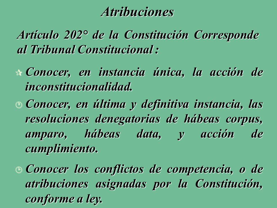 ¶ Conocer, en instancia única, la acción de inconstitucionalidad.