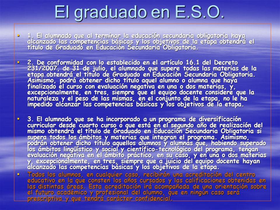 El graduado en E.S.O. 1.