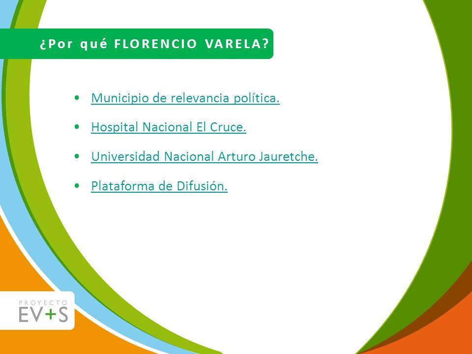 Municipio de relevancia política. Hospital Nacional El Cruce. Universidad Nacional Arturo Jauretche. Plataforma de Difusión. ¿Por qué FLORENCIO VARELA