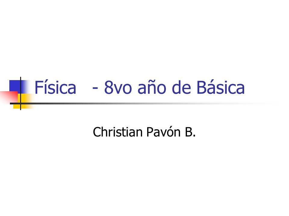 Física- 8vo año de Básica Christian Pavón B.