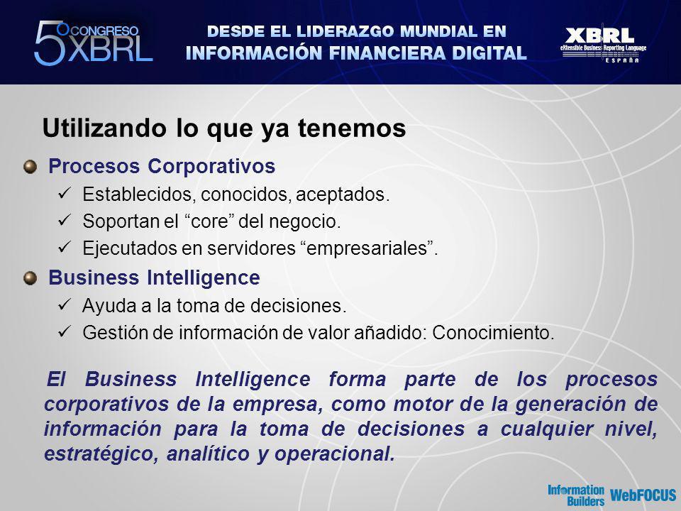 Business Intelligence Corporativo ¿ XBRL ? ¿ XBRL ?