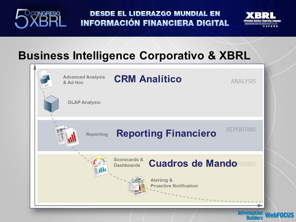 Business Intelligence Corporativo & XBRL CRM Analítico Reporting Financiero Cuadros de Mando