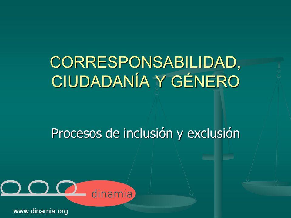 CORRESPONSABILIDAD, CIUDADANÍA Y GÉNERO Procesos de inclusión y exclusión www.dinamia.org