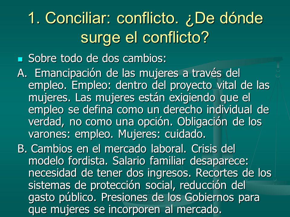 1.Conciliar: conflicto. ¿De dónde surge el conflicto.