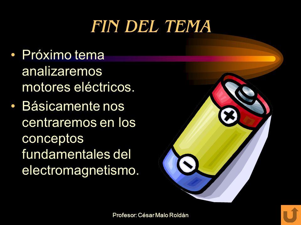 Profesor: César Malo Roldán EJERCICIO Necesitamos suministrar corriente a un circuito exterior, que requiere 24V/230Ah. Disponemos de siete baterías: