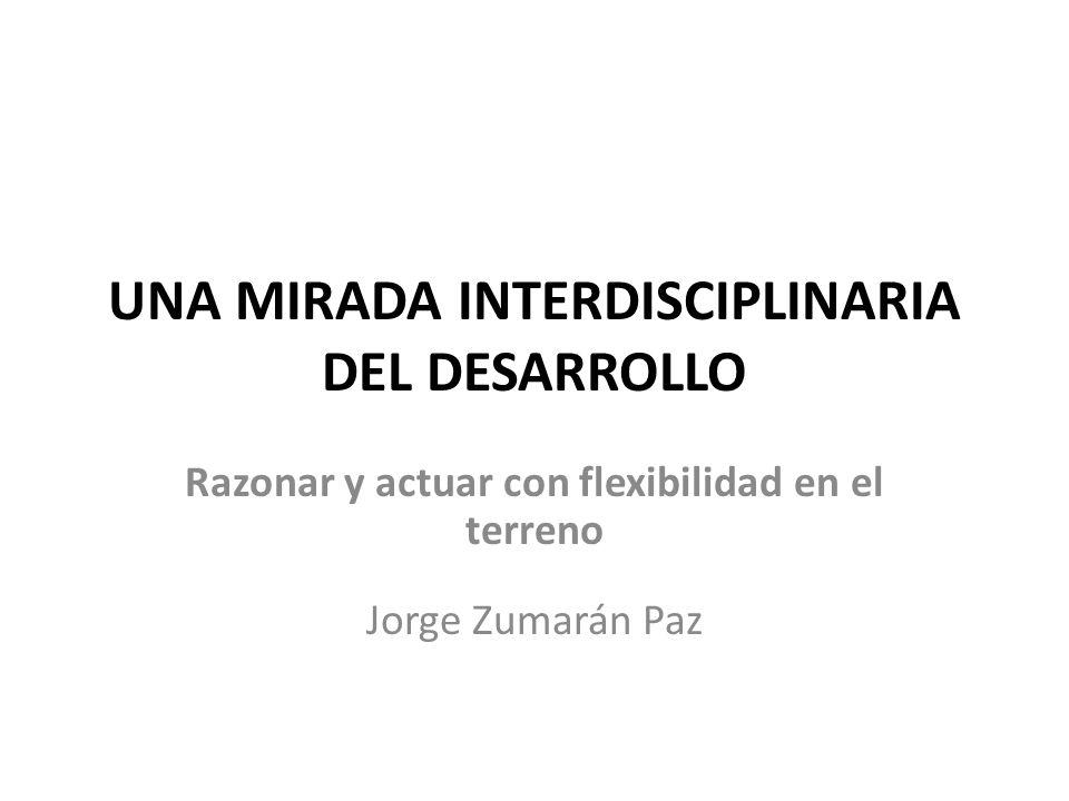 UNA MIRADA INTERDISCIPLINARIA DEL DESARROLLO Razonar y actuar con flexibilidad en el terreno Jorge Zumarán Paz