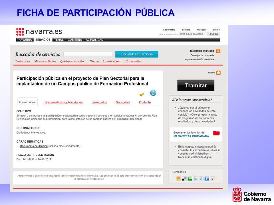 FICHA DE PARTICIPACIÓN PÚBLICA