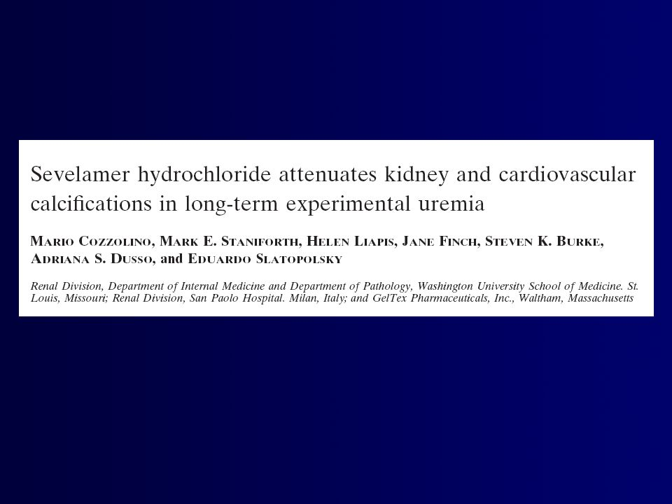 UHP UHP + C 3% UHP + S 3% Uremia 1 wk 6 mo HP diet = 0.9% P } Biochemistry (Creat, Ca, P, CaxP product, pH, HCO 3 -, GFR, Uprot, UCa, UP ) Ca deposition (Kidney,Myocard.