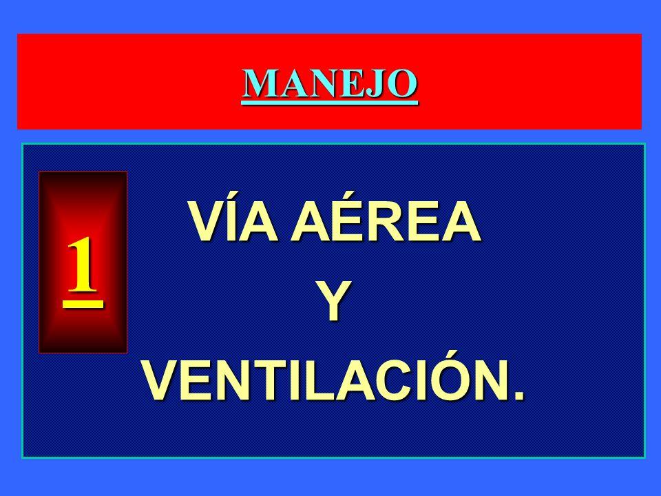 MANEJO VÍA AÉREA YVENTILACIÓN. 1