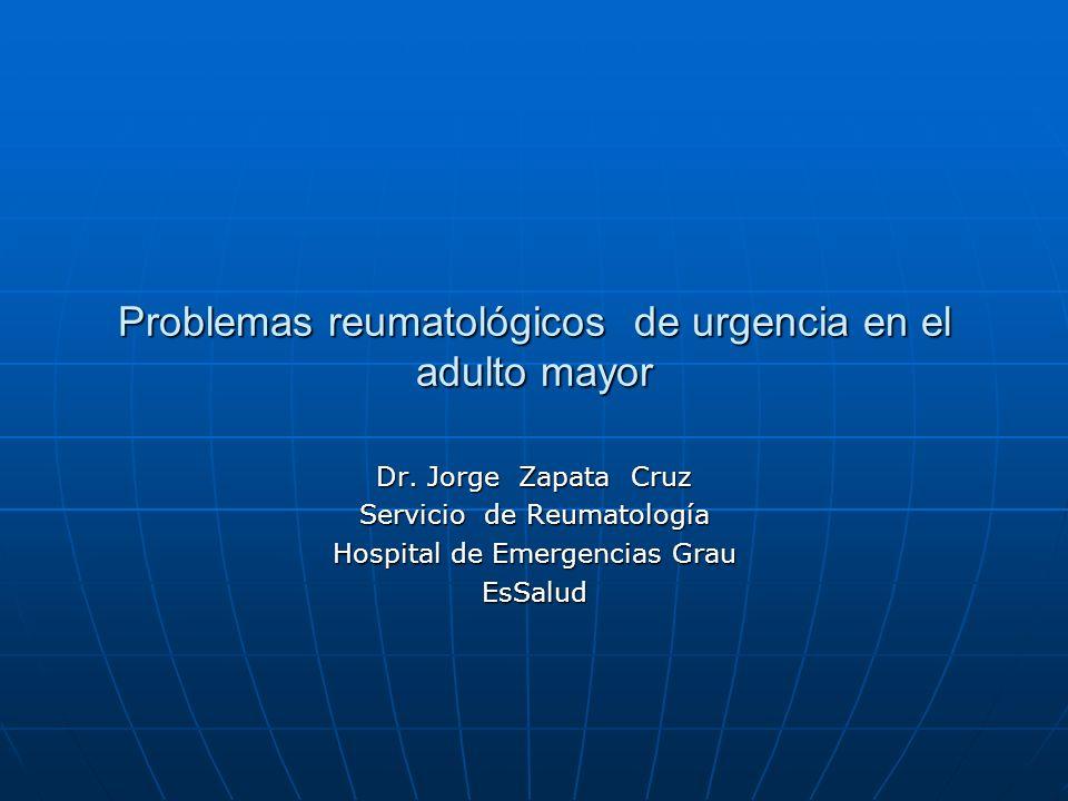 Las urgencias en reumatología son diversas y variadas.