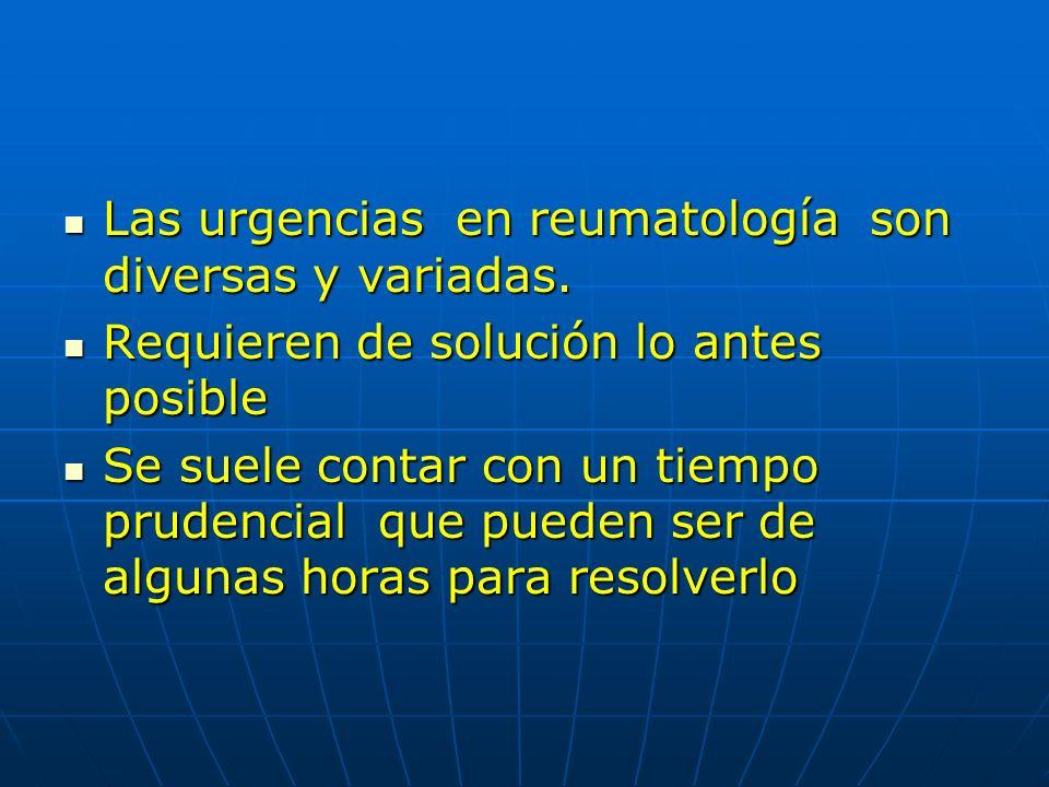 Cuadros agudos en Reumatología según área de localización Partes blandas Partes blandas Articular : Monoarticular Articular : Monoarticular Poliarticular Poliarticular Axial: Axial: Sistémico: Sistémico: