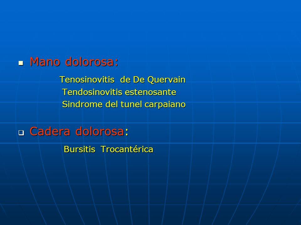 Tenosinovitis de De Quervain Tenosinovitis Estenosante