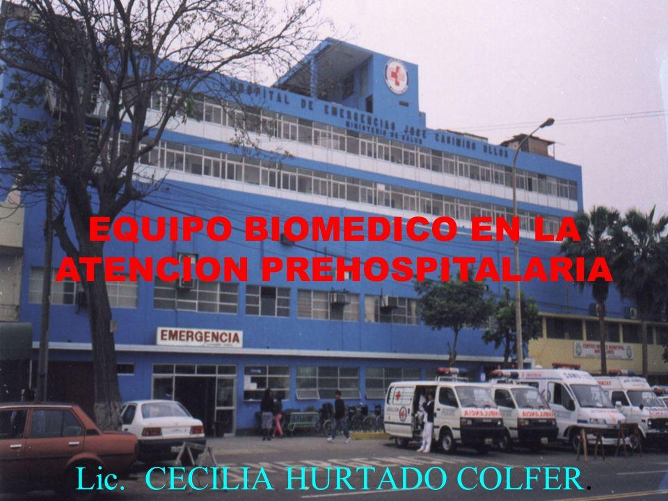 LAS EMERGENCIAS 95% SON PRE HOSPITALARIAS PRIMERA CAUSA DE MUERTE