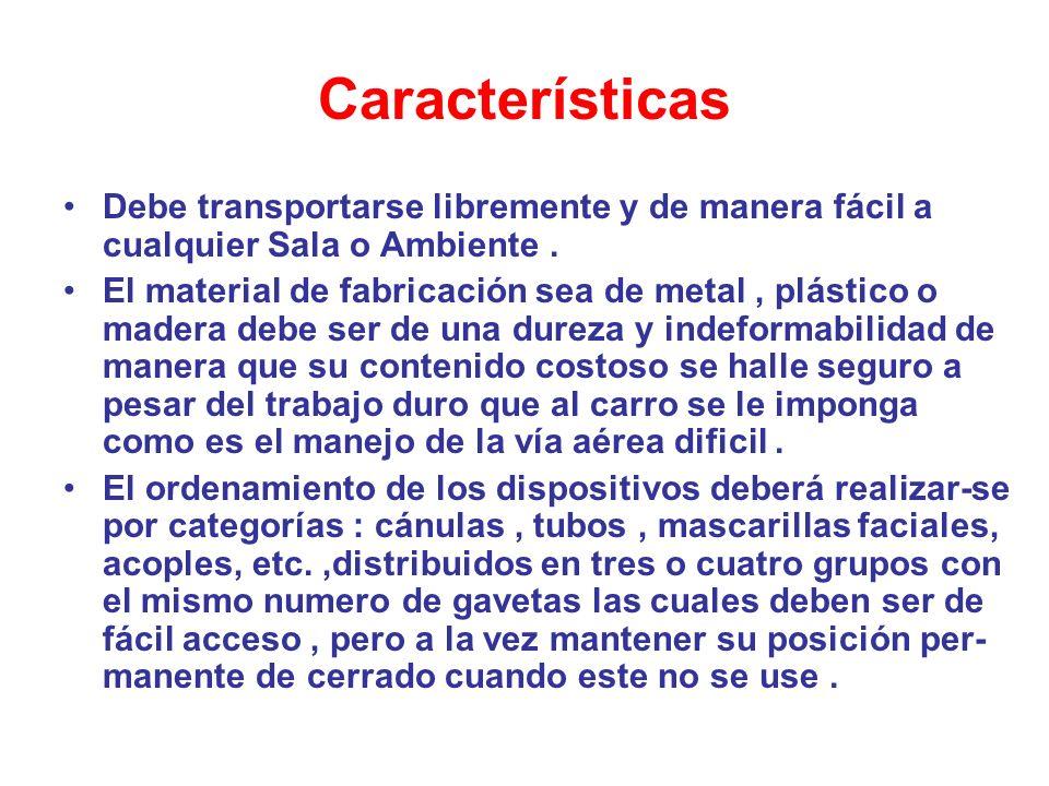 Características Debe transportarse libremente y de manera fácil a cualquier Sala o Ambiente. El material de fabricación sea de metal, plástico o mader