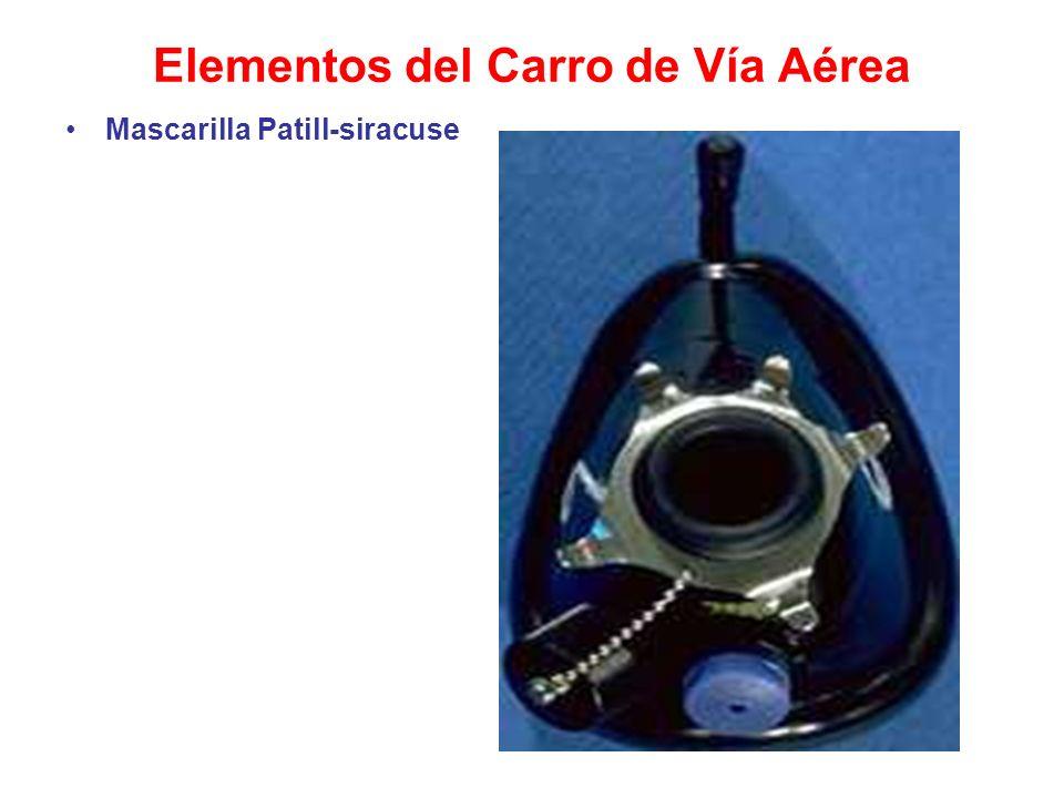 Elementos del Carro de Vía Aérea Mascarilla Patill-siracuse