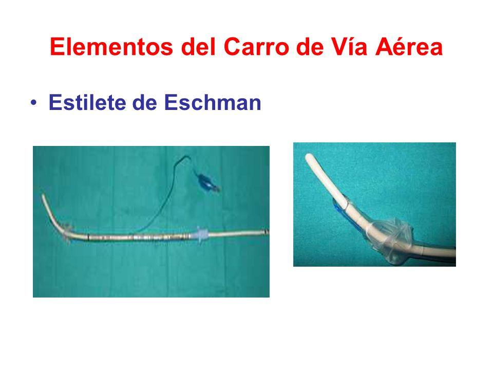 Elementos del Carro de Vía Aérea Estilete de Eschman