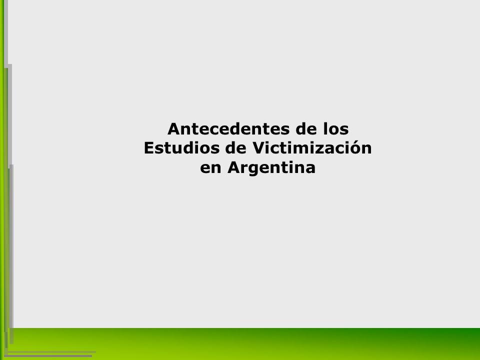 Antecedentes de los Estudios de Victimización en Argentina