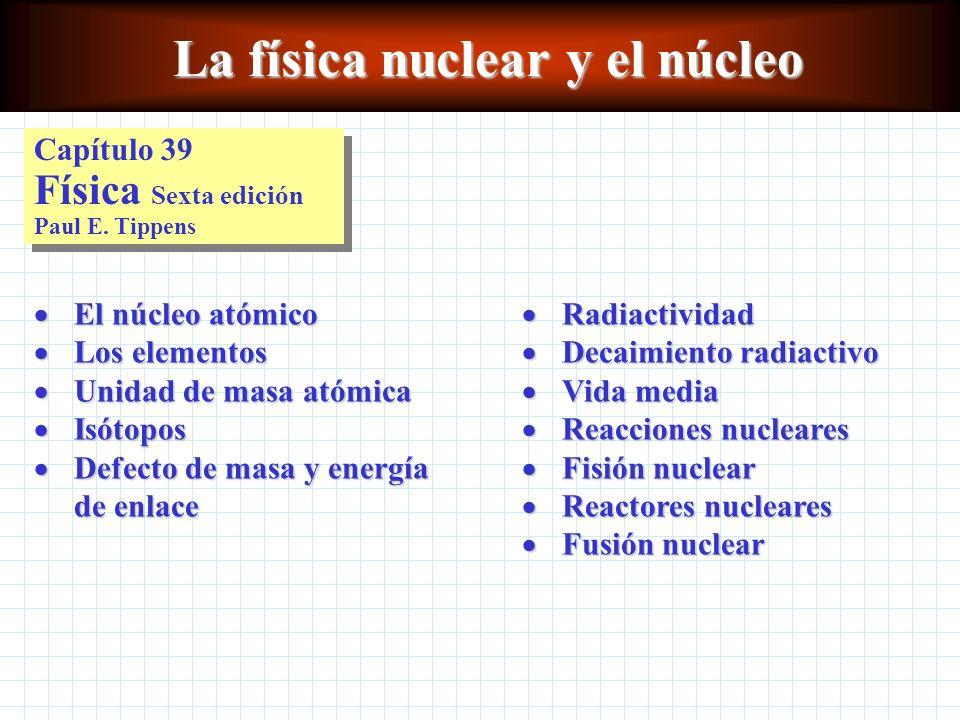 Fisión nuclear La fisión nuclear es el proceso por el cual los núcleos pesados se dividen en dos o más núcleos de números de masa intermedios.